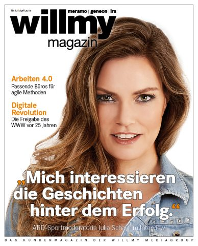 Titel des willmy magazin Nr. 13